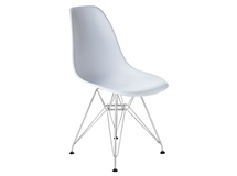 Стул Eames Chrome PP623A, белый