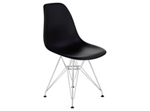 Стул Eames Chrome PP623A, черный